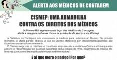 Alerta aos médicos de Contagem