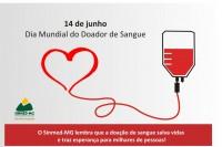 Sinmed-MG em defesa da vida: 14 de junho- Dia mundial do doador de sangue.