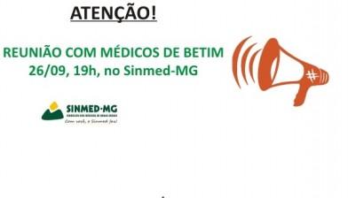 Atenção: reunião com os médicos da rede pública de saúde de BETIM