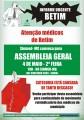 Médicos de BETIM fazem nova assembleia para continuidade do movimento reivindicatório