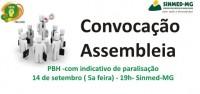 PBH: após cancelamento de reuniões por parte da Prefeitura, médicos ampliam mobilização e marcam assembleia, com indicativo de paralisação, para 14 de setembro