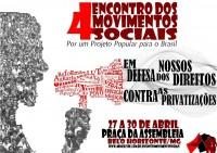 Minas Gerais se prepara para o 4º Encontro dos Movimentos Sociais