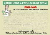 Protesto contra fechamento da Materndiade Imbiruçu