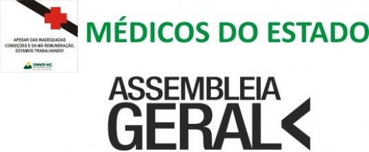 Médico do estado: Assembleia geral dia 20 de dezembro, no Sinmed-MG