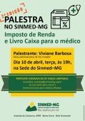 Vem aí: 2ª  edição da Palestra sobre Imposto de Renda e livro caixa para o médico. Faça sua inscrição