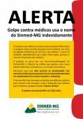 Sinmed-MG alerta os médicos sobre golpe com uso  indevido do nome da entidade