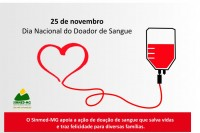 25 de novembro: Dia Nacional do Doador voluntário de sangue. Vamos abraçar esta causa!