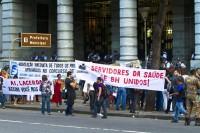 Manifestação de Protesto dos médicos da PBH por melhores condições de trabalho fecha principal avenida do Centro de Belo Horizonte
