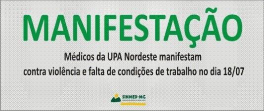 Médicos da UPA Nordeste(PBH) realizam manifestação