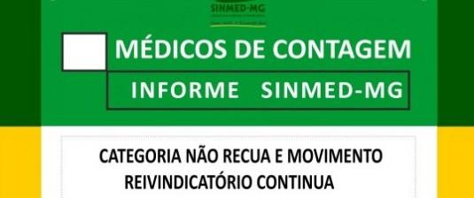Médicos de Contagem: nosso movimento reivindicatório continua.
