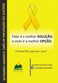 Sinmed-MG no Setembro Amarelo: mês de prevenção do suicídio.
