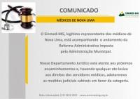 Nova Lima: Sinmed-MG está atento a qualquer ato lesivo  aos direitos dos servidores médicos para providências