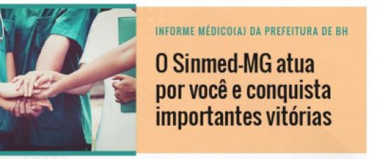 Médicos da PBH: SinmedMG conquista importantes ganhos para você. Conheça aqui