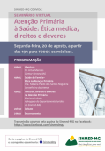 Seminário Virtual no Sinmed-MG- Atenção Primária à Saúde: Ética Médica, direitos e deveres