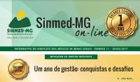 Sinmed-MG on-line: veja a edição especial com o balanço de 1 ano da gestão 2016/2019