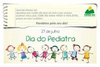 Homenagem do Sinmed-MG. Parabéns pediatras!