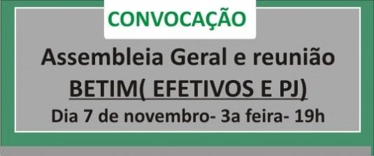 Médicos efetivos e PJ de Betim: Sinmed-MG comunica que haverá assembleia geral e reunião no dia 7 de novembro