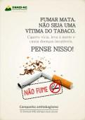 Campanha antitabagismo do Sinmed-MG alerta para os riscos do tabaco