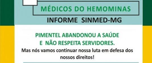 Hemominas mobilizado para paralisação no dia 13.12