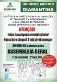 Médicos de Diamantina iniciam movimento reivindicatório! Assembleia é dia 21/11, 19h, no Hospital do município