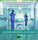 10 de novembro - dia do médico intensivista