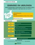 Atenção: Seminário em Uberlândia foi adiado para o dia 5 de abril