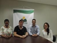 Nova diretoria da Sociedade de Acadêmicos de Minas Gerais (SAMMG) visita o Sinmed-MG