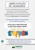 Campanha para arrecadação de agasalhos e cobertores do Sinmed-MG: o frio não pode ser mais forte que o calor das nossas ações!