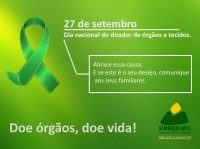27 de Setembro - Dia nacional da doação de órgãos e tecidos