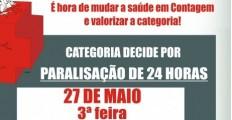 Paralisação de 24 horas dos médicos da rede pública de Contagem