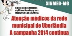 Uberlândia: nova assembleia geral dos médicos da rede pública, dia 6/5, 19h