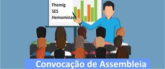 Atenção: assembleia geral dos médicos da FHEMIG, SES e Hemominas marcada para dia 23 de maio, no Sinmed-MG