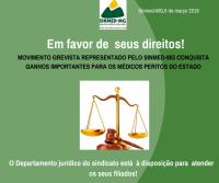 MOVIMENTO GREVISTA REPRESENTADO PELO SINMED-MG CONQUISTA GANHOS IMPORTANTES PARA OS MÉDICOS PERITOS DO ESTADO