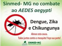 Sinmed-MG na luta contra o Aedes Aegypti! Sindicato conta com você no combate ao mosquito. Junte-se a nós!