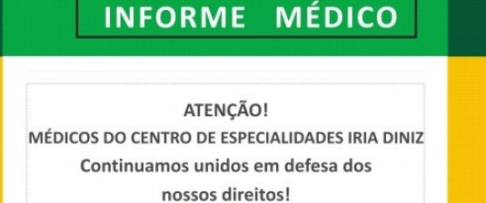 Contagem: Assembleia geral dos médicos do Centro de Especialidades Iria Diniz