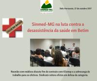 Sinmed-MG preocupado com desassistência da saúde em Betim