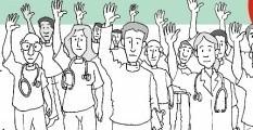 Médicos de Contagem não estão em greve mas mantêm mobilização em defesa da categoria Nova Assembleia é dia 4 de junho, 3ª feira, no Sindicato